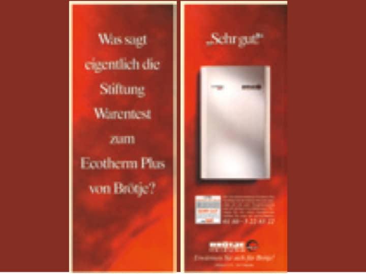 """Auszeichnung """"sehr gut"""" von Stiftung Warentest zum Ecotherm Plus von BRÖTJE."""
