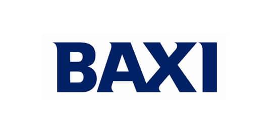Baxi Logo in dunkelblauen Großbuchstaben geschrieben.