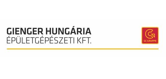 Gienger Ungarn in Landessprache geschrieben. Darunter ebenso in Landessprache geschrieben, Épületgépészeti KFT.