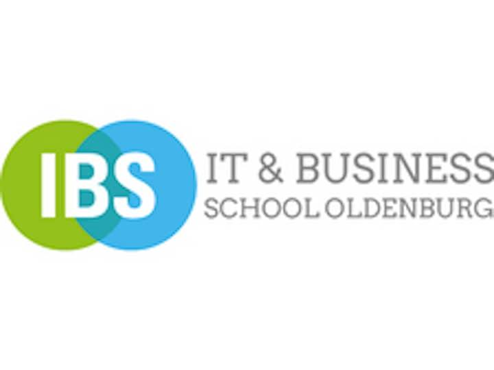 Logo der IT und Businessschule Oldenburg. Ein grüner und ein blauer Punkt, die ineinander verlaufen.
