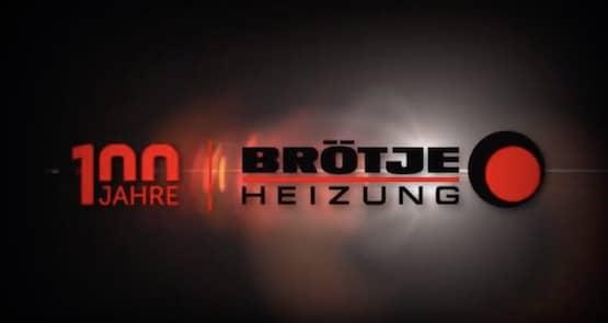 """Logo """"100 Jahre - BRÖTJE Heizung"""""""